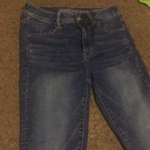 Lightly acid washed jeans